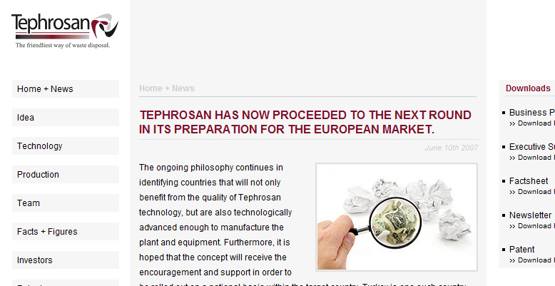 Tephrosan AG – The friendliest way of waste disposal.