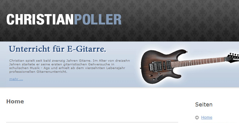 Christian Poller – Unterricht für E-Gitarre