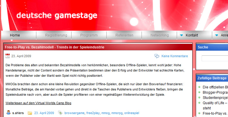 Projekt Deutsche Gamestage