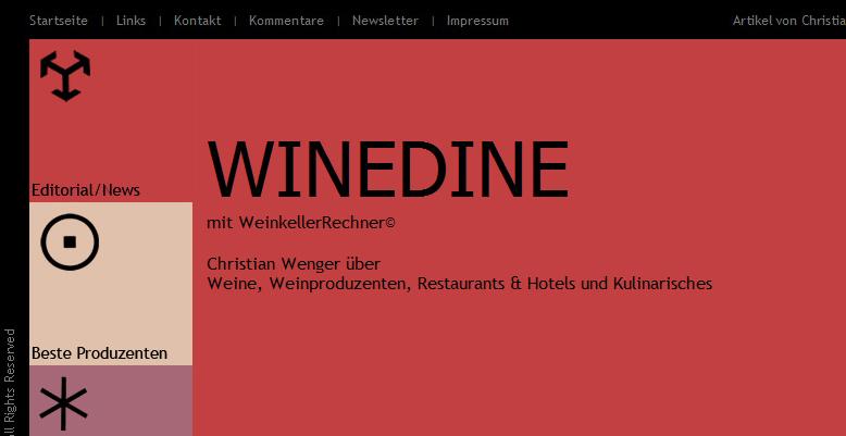 Winedine – mit Weinkellerrechner
