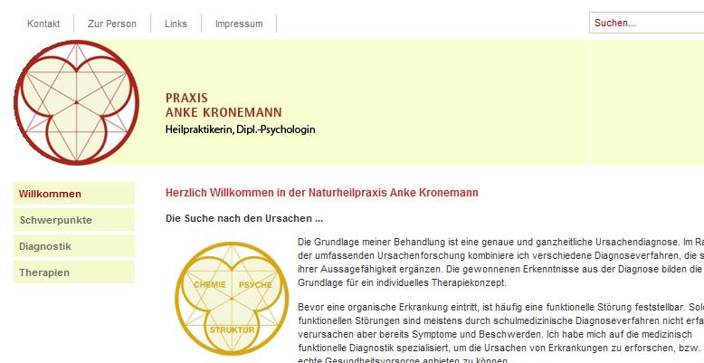 Relaunch der Seite www.praxis-kronemann.de