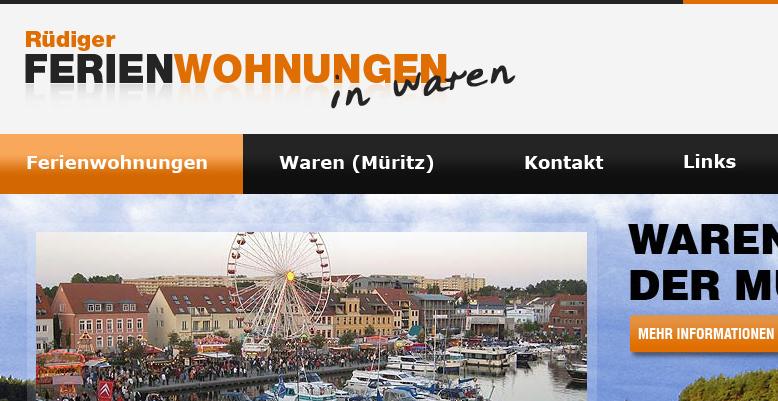 Neue Homepage für www.waren-mueritz-urlaub.de