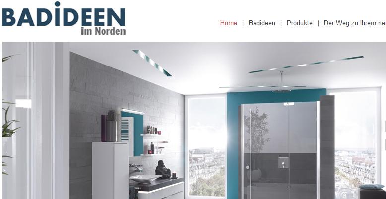 Neue Homepage für www.badideenimnorden.de
