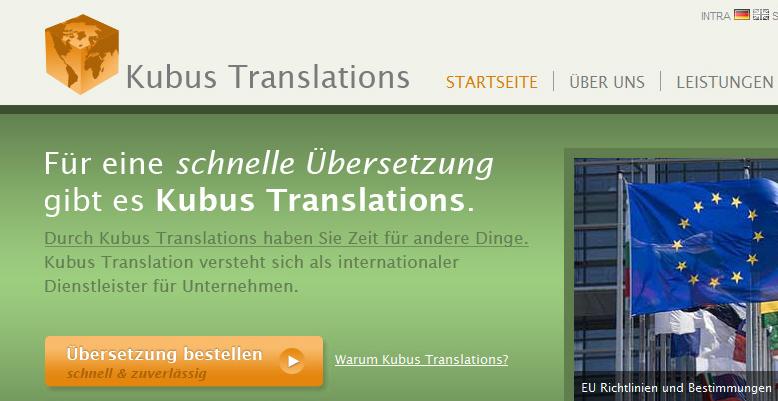 Redesign für Kubus Translations – Übersetzungsbüro