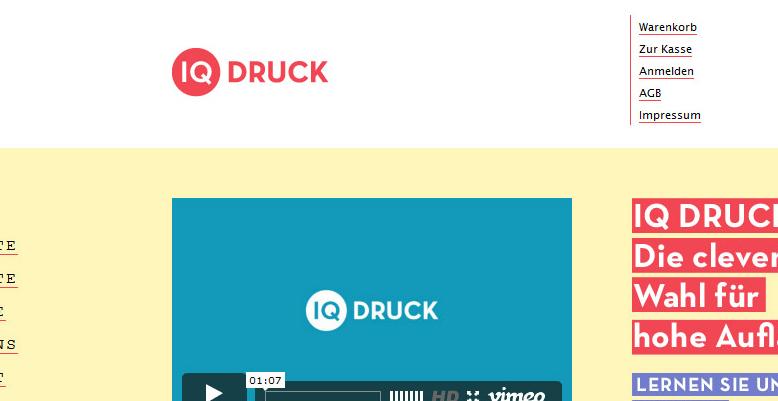 Online-Shop mit Magento für IQ Druck aus Wedel