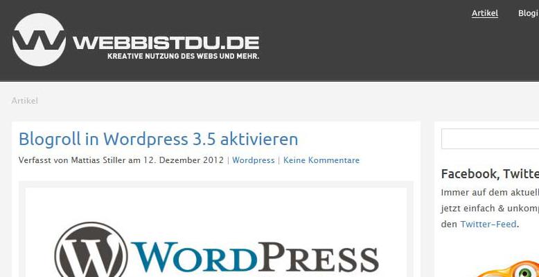 Fachblog von Mattias Stiller webbistdu.de ist online
