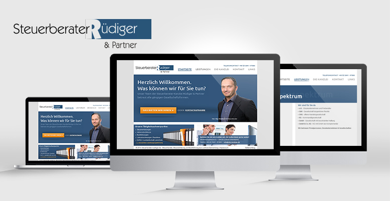 Redesign mit Wordpress für Steuerberater Rüdiger & Partner