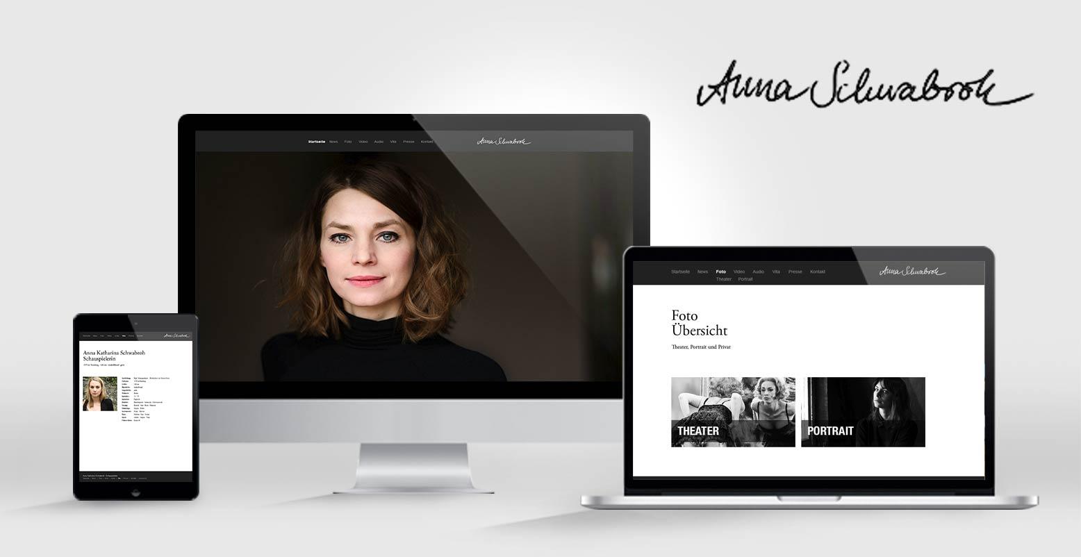 Wordpress für Schaupielerin Anna Schwabroh