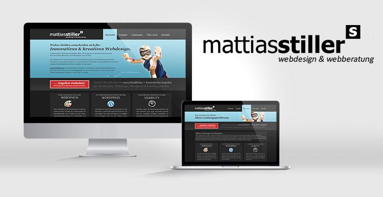 Redesign der Website www.mattiasstiller.de