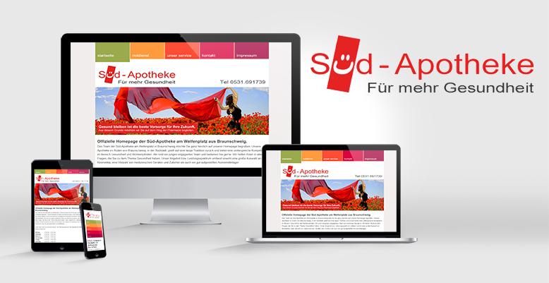 Responsives Webdesign für die Süd-Apotheke