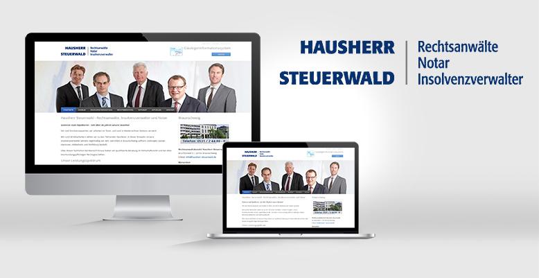 Neue Typo3 Webseite für HAUSHERR STEUERWALD aus Braunschweig