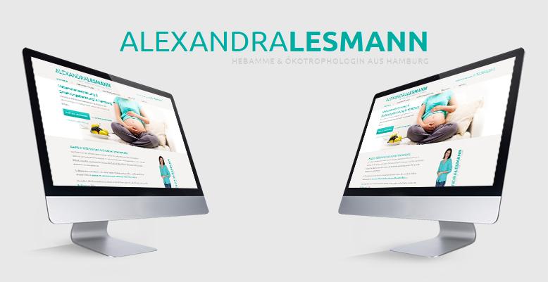 Wordpress Webseite für Hebamme Lesmann