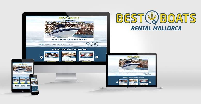 BestBoat – Die Nr. 1 der Bootsvermietung auf Mallorca mit Responsive Webdesign