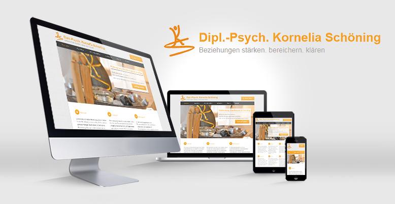 Dipl.-Psych. Kornelia Schöning mit neuer Wordpress Webseite