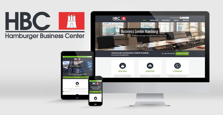 Responsive Webdesign & Wordpress für die HBC GmbH – Ihr Büro in Hamburg