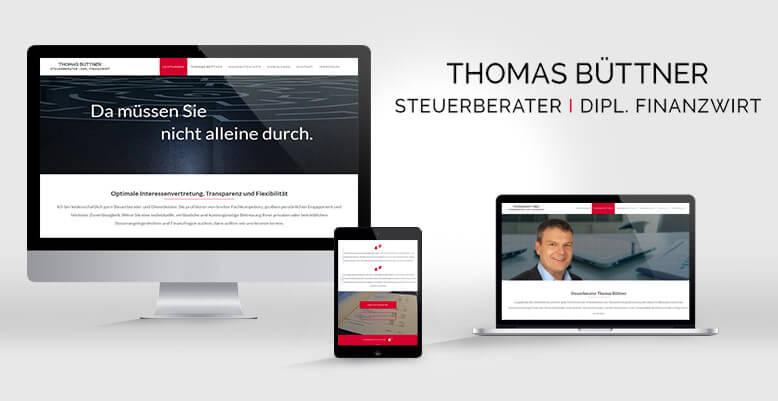 Steuerberater Thomas Büttner mit neuer Wordpress Webseite