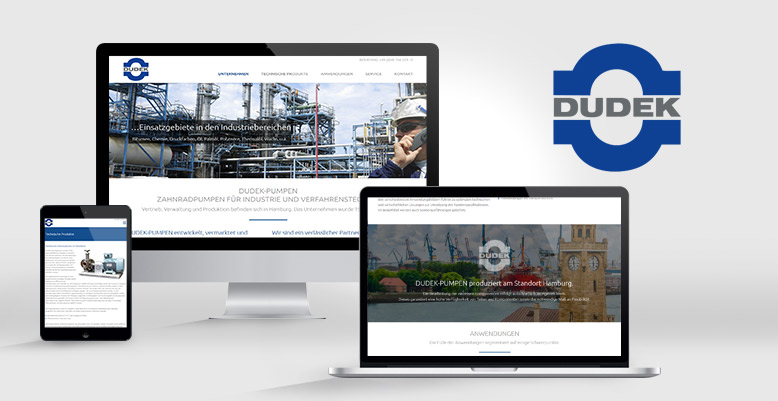 Dudek Pumpen aus Hamburg mit Wordpress Relaunch