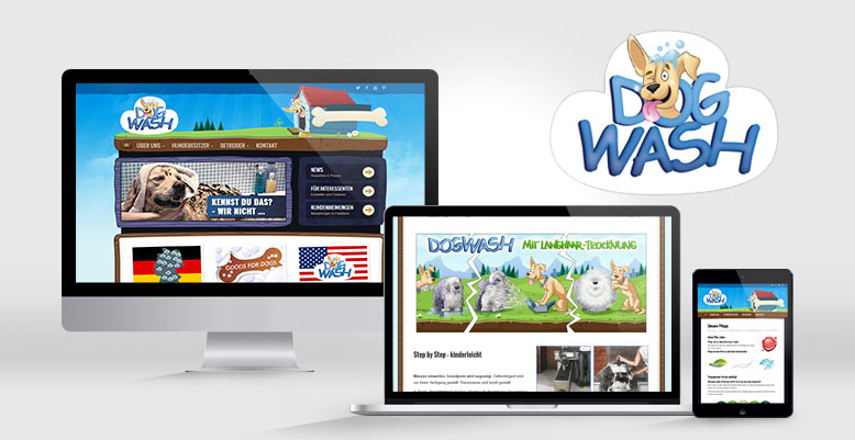 Webdesign & Wordpress für dogwash.info