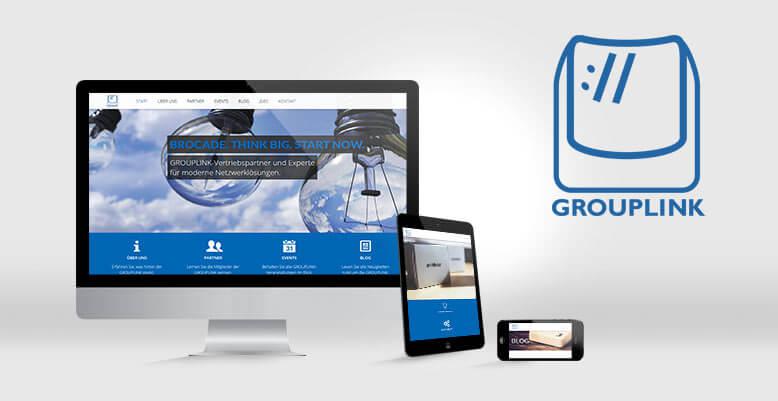 Relaunch mittels Wordpress für GROUPLINK GmbH