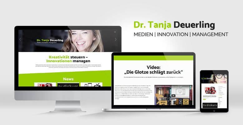 Neuer Webauftritt mittels Wordpress für Dr. Tanja Deuerling