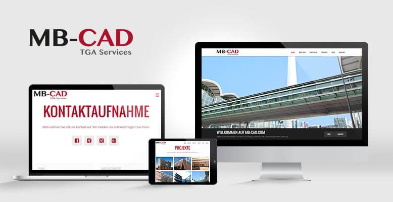 Wordpress Webseite für die MB CAD TGA Services GmbH