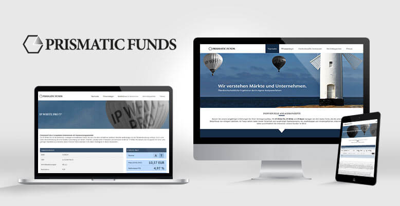 Die prismatic funds GmbH geht mit Wordpress Relaunch an den Start