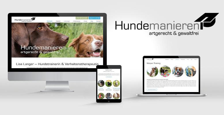 Hundetrainerin Lisa Langer mit neuer Wordpress Webseite