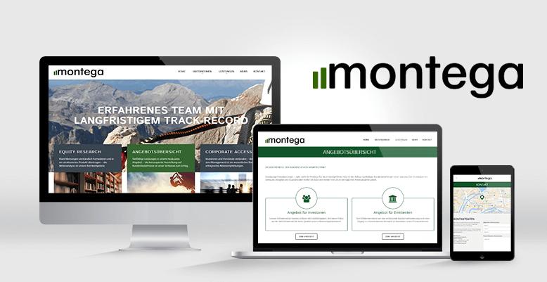 Montega AG mit neuem Wordpresss Theme