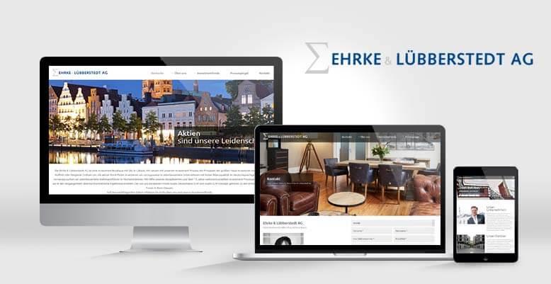 Individuelles Wordpress Theme für Ehrke & Lübberstedt AG