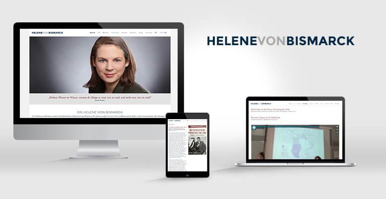 Helene von Bismarck mit neuer mehrsprachigen Wordpress Webseite