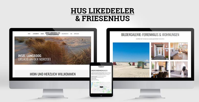 Ferienwohnung Hus Likedeeler mit Wordpress umgesetzt