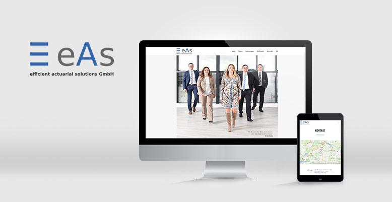 Wordpress für Schweizer Unternehmen eAs efficient actuarial solutions GmbH