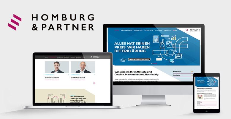 Entwicklung eines individuellen Wordpress Themes für Homburg & Partner