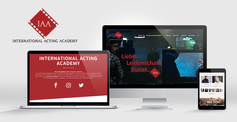 IAA Schauspielschule – WordPress Relaunch & Responsives Webdesign